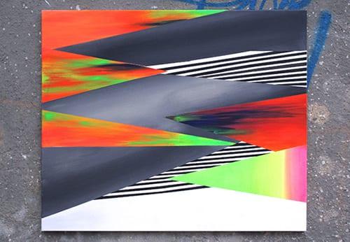003 HypeII, Wegrzyn Magdalena, acrylic on canvas, 100x120cm, 2013